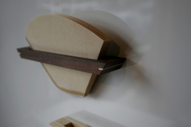 コーヒーペーパーホルダー | coffee paper holder | 山形・仙台を中心にオリジナル家具・オーダー家具、インテリアのデザイン・製作・納品をおこなっています。おしゃれ。