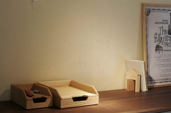 デスクトレイ | 書類入れ | Desk Tray | 山形・仙台を中心にオリジナル家具・オーダー家具、インテリアのデザイン・製作・納品をおこなっています。おしゃれ。