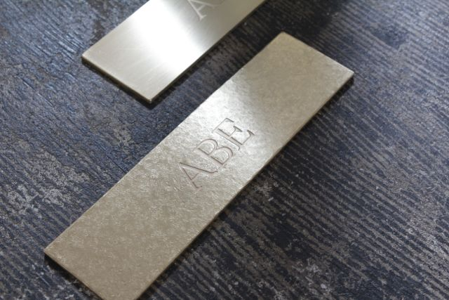 Brass nameplate 真鍮 表札 プレート entomo えんとも