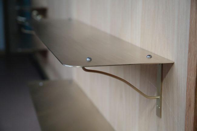 brass hardwae 真鍮 金物 棚受け entomo 1