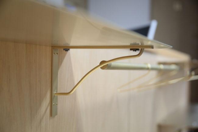 brass hardwae 真鍮 金物 棚受け entomo 2