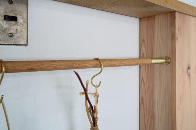 突っ張り棒 | つっぱり棒 | 真鍮 | 山形・仙台を中心にオリジナル家具・オーダー家具、インテリアのデザイン・製作・納品をおこなっています。おしゃれ。