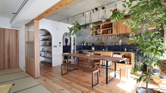 リノベーション | 造作キッチン | ダイニングテーブル | テーブル | 山形・仙台を中心にオリジナル家具・オーダー家具、インテリアのデザイン・製作・納品をおこなっています。おしゃれ。