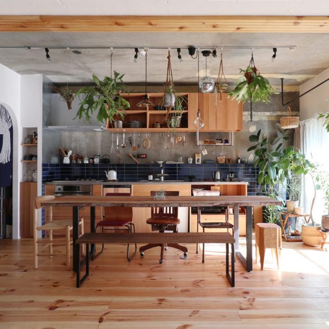リノベーション | 造作キッチン | テーブル | 山形・仙台を中心にオリジナル家具・オーダー家具、インテリアのデザイン・製作・納品をおこなっています。おしゃれ。